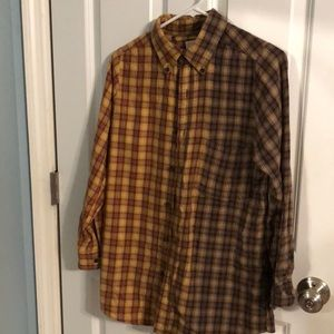 Plaid urban flannel button down shirt